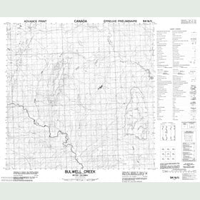 Canadian Topo Map - Bulwell Creek - Map 094N11