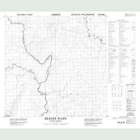Canadian Topo Map - Beaver River - Map 094N16
