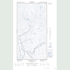 Canadian Topo Map - Sahtaneh River - Map 094O01W