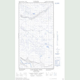 Canadian Topo Map - Capot-Blanc Creek - Map 094O05E