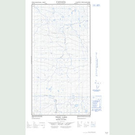 Canadian Topo Map - Trail Lake - Map 094O09W