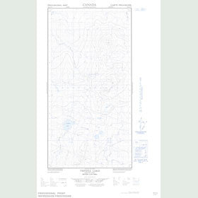 Canadian Topo Map - Tsinhia Lake - Map 094O11E