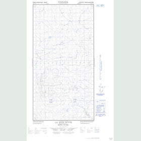 Canadian Topo Map - La Jolie Butte - Map 094O12E