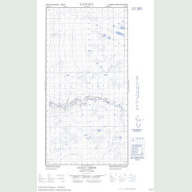 Canadian Topo Map - Sandy Creek - Map 094O13E