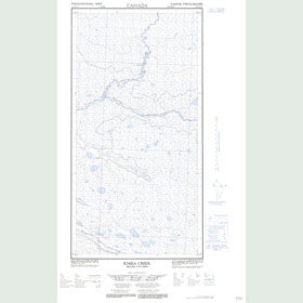 Canadian Topo Map - Kimea Creek - Map 094P10E