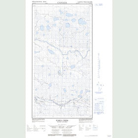 Canadian Topo Map - Kimea Creek - Map 094P10W