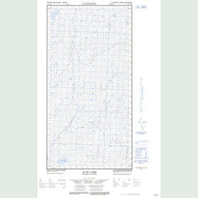 Canadian Topo Map - June Lake - Map 094P16W