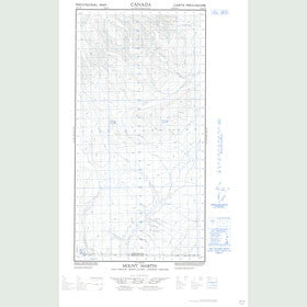Canadian Topo Map - Mount Martin - Map 095C01W