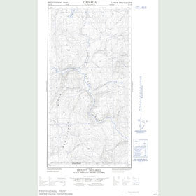 Canadian Topo Map - Mount Merrill - Map 095C02W