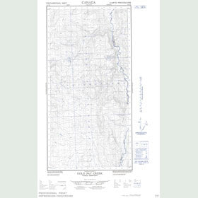 Canadian Topo Map - Gold Pay Creek - Map 095C06E