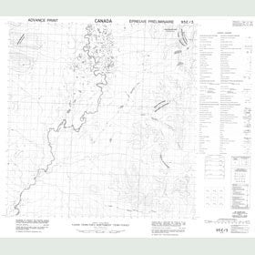 Canadian Topo Map - Map 095E03