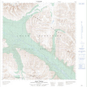 Canadian Topo Map - Pass Creek - Map 095E11