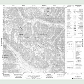 Canadian Topo Map - Mount Sidney Dobson - Map 095E13