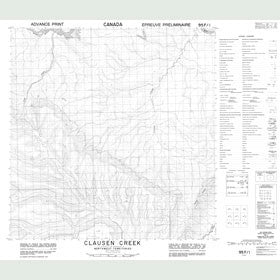 Canadian Topo Map - Clausen Creek - Map 095F01