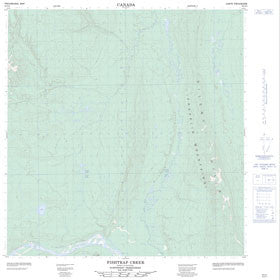 Canadian Topo Map - Fishtrap Creek - Map 095G05