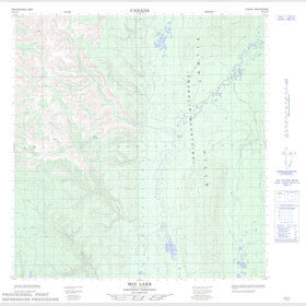 Canadian Topo Map - Mid Lake - Map 095G12
