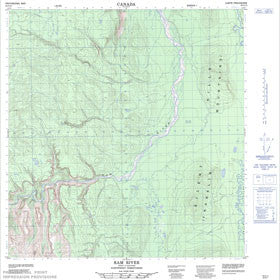 Canadian Topo Map - Ram River - Map 095G13
