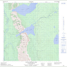 Canadian Topo Map - Little Doctor Lake - Map 095G14