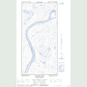 Canadian Topo Map - Manners Creek - Map 095H11W