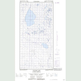Canadian Topo Map - Antoine Lake - Map 095H12E
