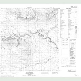 Canadian Topo Map - Gun Rapids - Map 095J09