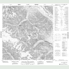 Canadian Topo Map - Mount Sir James MacBrien - Map 095L04