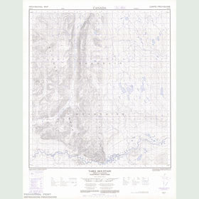 Canadian Topo Map - Table Mountain - Map 095O11