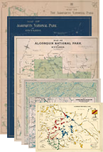 All 6 Historic Maps + An Algonquin Wall Map + All 4 Algonquin Camping Maps + a Killarney Camping Map