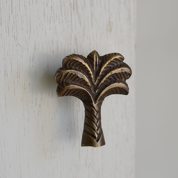 Bronze Door Pull | Palm Tree