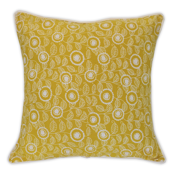 Cushion Cover - Citrus Yellow Modern, Small