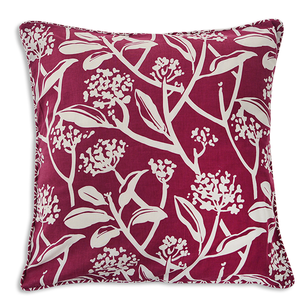 "Cushion Cover | Frangipani Beet Medium 45cm/18"" (set of 3) - sale"