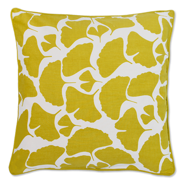 Cushion Cover - Citrus Yellow Ginkgo Medium