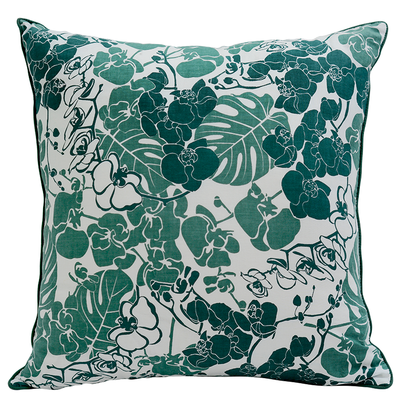 Cushion Cover | Orchid Emerald Medium (set of 2)