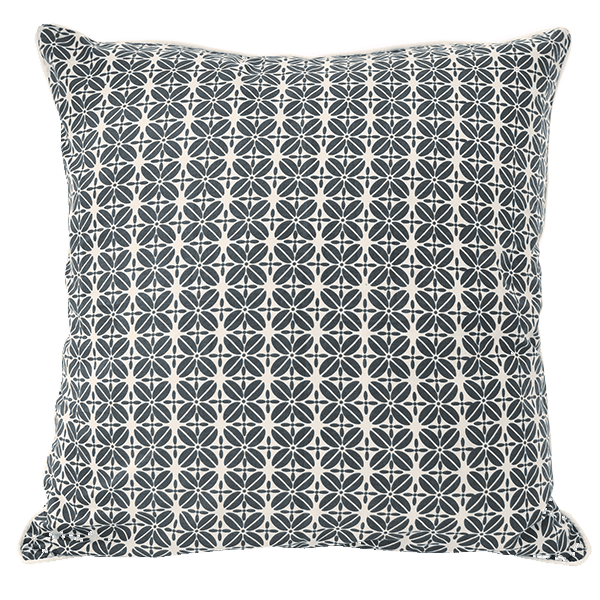 Cushion Cover - Indigo Coffee Bean Large