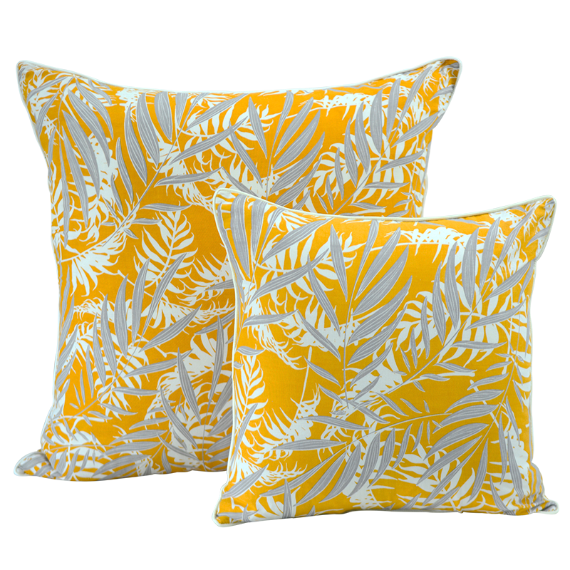 Cushion Cover | Palm Turmeric Faun (large) 65cm/26""