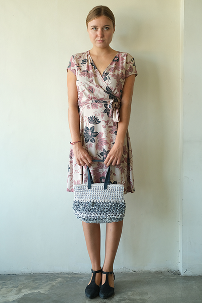 Wrap Dress | Passion Flower Retro Blush (3 sizes)