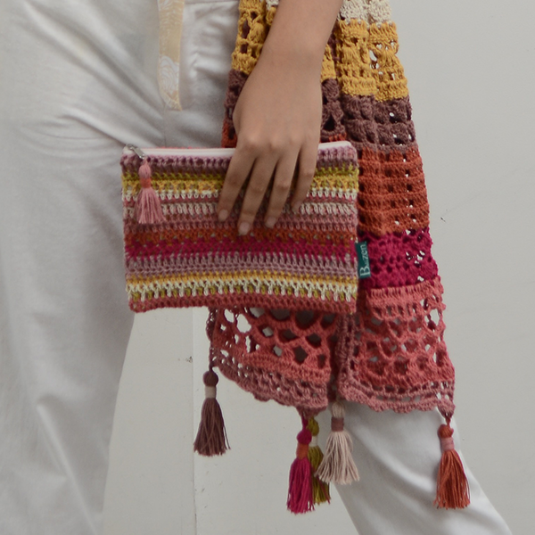 Crocheted Clutch Bag | Warm