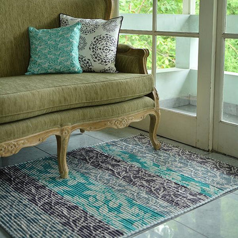 Corduroy Carpet - Stormy Frangipani, 2 Sizes