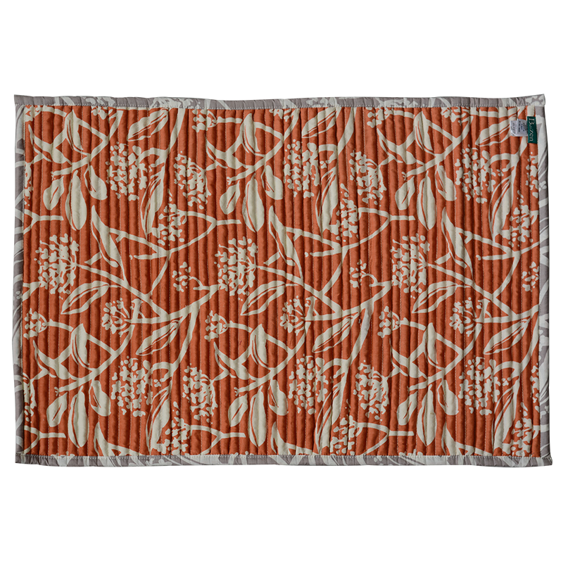 Corded Mat | Tropical Frangipani