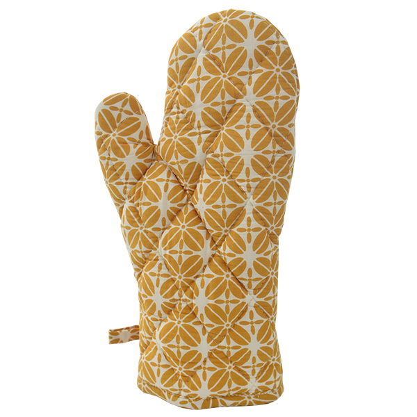 Oven Mitt | Coffee Bean Turmeric (set of 2)