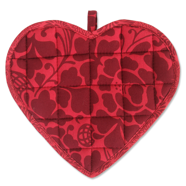 Kitchen Sweetheart Pot Holder - Red Maroon