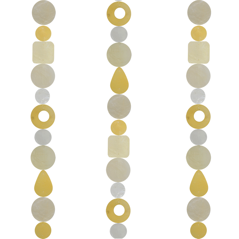 Capiz Shell Strand | Turmeric (set of 2)