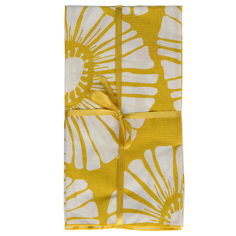 Napkins | Yellow Retro Flower (set of 8)