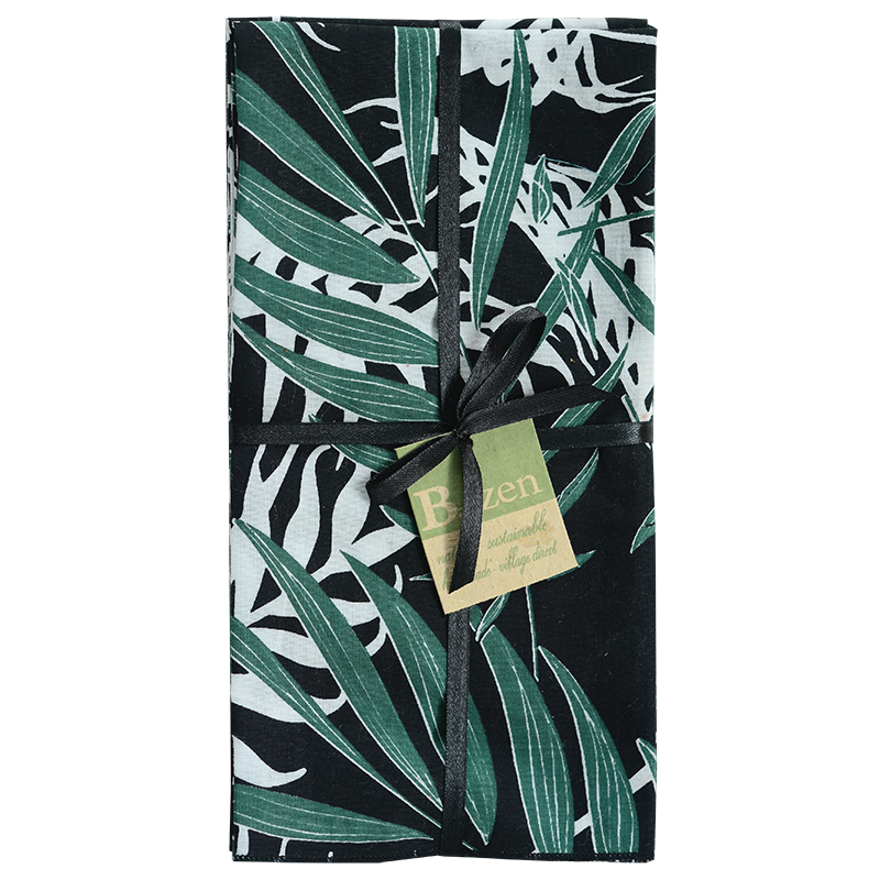 Napkins | Palm Black Emerald (set of 8)