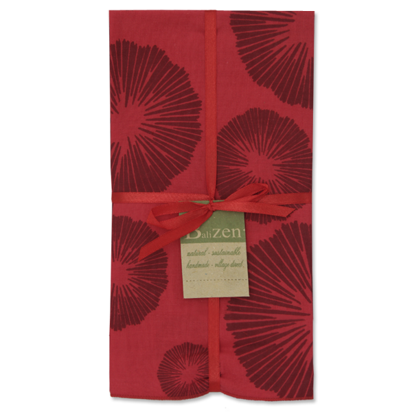 Napkins | Seaflowers Retro Maroon (set of 8)