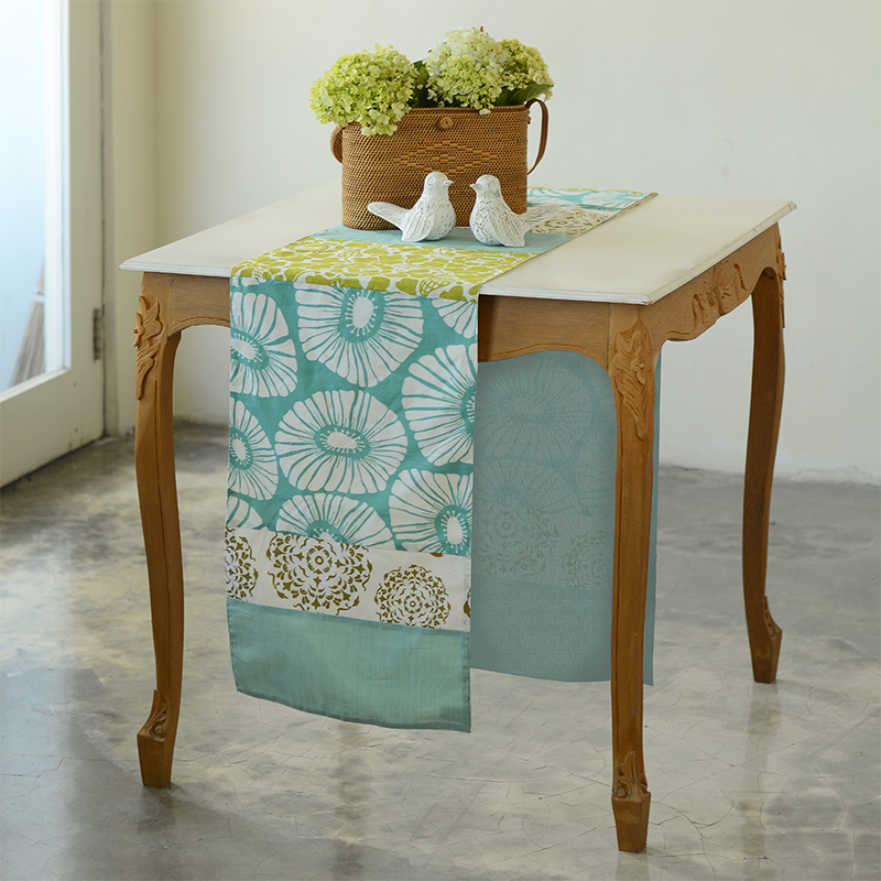Table Runner | Cotton Cool Tones (long)