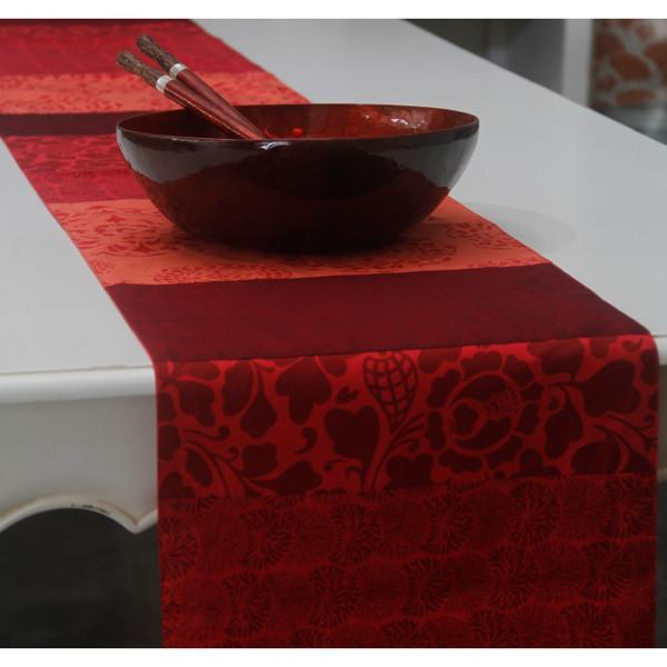 Runners & Tablecloths - Red Cotton Table Runner, 2 Sizes