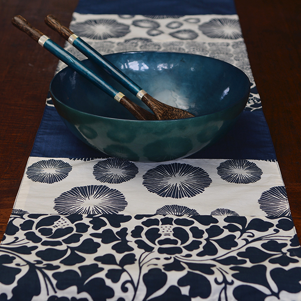 Runners & Tablecloths - Indigo Cotton Table Runner, 2 Sizes