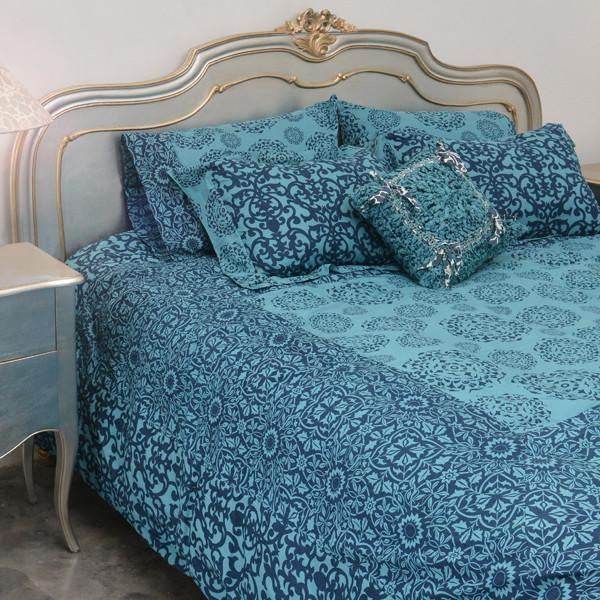 Bedding - Teal Indigo Duvet Cover in 2 Sizes