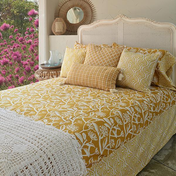 Bedding - Turmeric Frangipani Duvet Cover, in 2 sizes